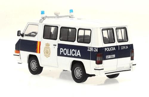 nissan trade 1992 policía nacional 1:43 vehículos de reparto y servicio salvat