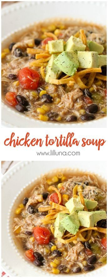 CHICKEN TORTILLA SOUP RECIPE #dinner #soup #chicken #tortilla