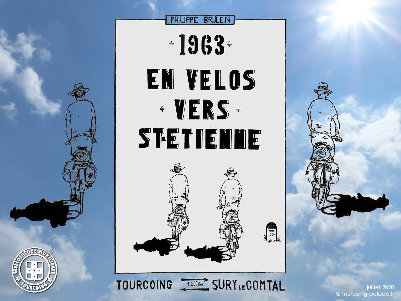 Philippe Brulein, 1963 En  Vélos vers Saint Étienne