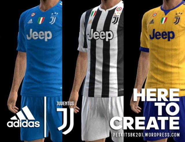 Juventus 2017-2018 Kit PES 2013
