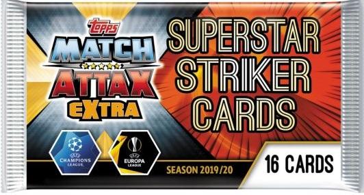 Match Attax 2019//20 Mega Tin Super Boost Strikers 50 cartes dont Limited