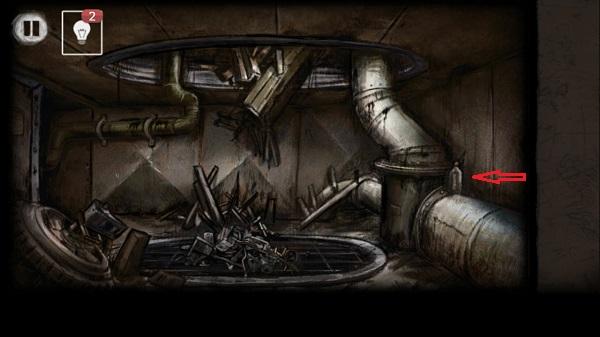 берем бутылку и разбиваем в игре выход из заброшенной шахты