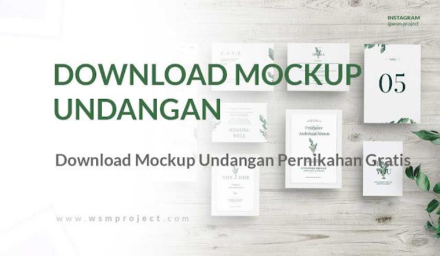 Download Mockup untuk Undangan Pernikahan Gratis