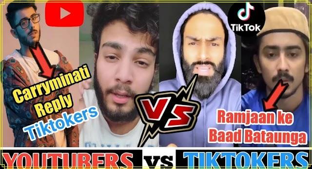 YouTubers Vs Tiktokers | Elvis Yadav, CarryMinati New Video On TikTok | Full Drama Explained