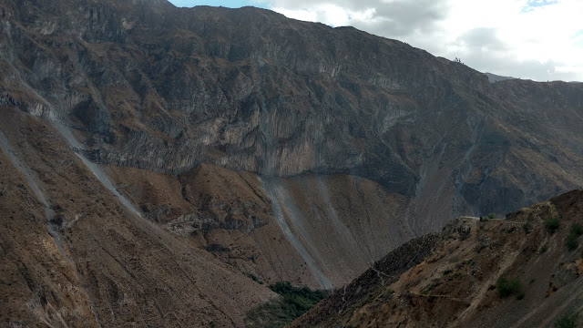 beautiful rugged scenery in the Colca Canyon