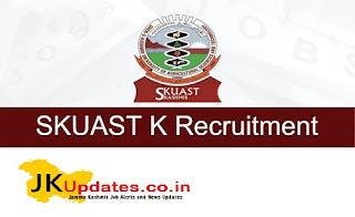 Tags :- SKUAST Jobs Recruitment 2020, J&K Govt Jobs, JK Job, JK Jobs, jobs in Jammu, Jobs in Kashmir, SKUAST, SKUAST Kashmir Jobs