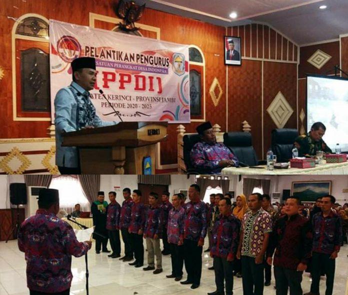 Bupati Adirozal Lantik Pengurus PPDI Kerinci Periode 2020-2025