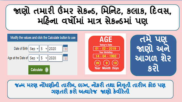 Age Calculator:  The calculated age will be displayed in years, months, weeks, days, hours, minutes, and seconds.