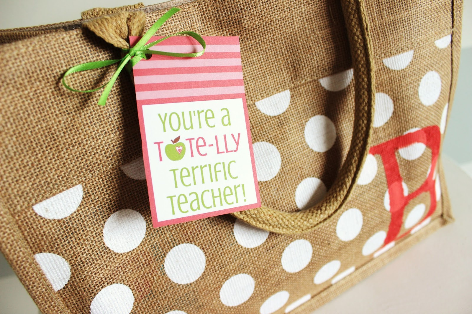 Teacher Appreciation Printable Tags… Tote-lly Terrific Gift