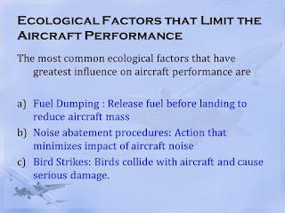 Ecological Factors that Limit the Aircraft Performance