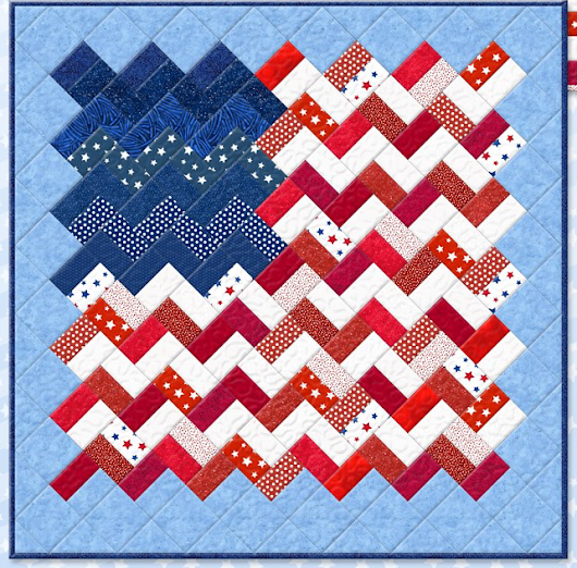 Zigzag Flag Quilt, Yankee Doodle quilt project at Wilmington Prints