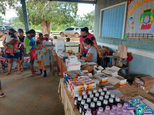 Secretaria de Saúde de Óbidos  realiza Ação  na Comunidade Cruzeirão