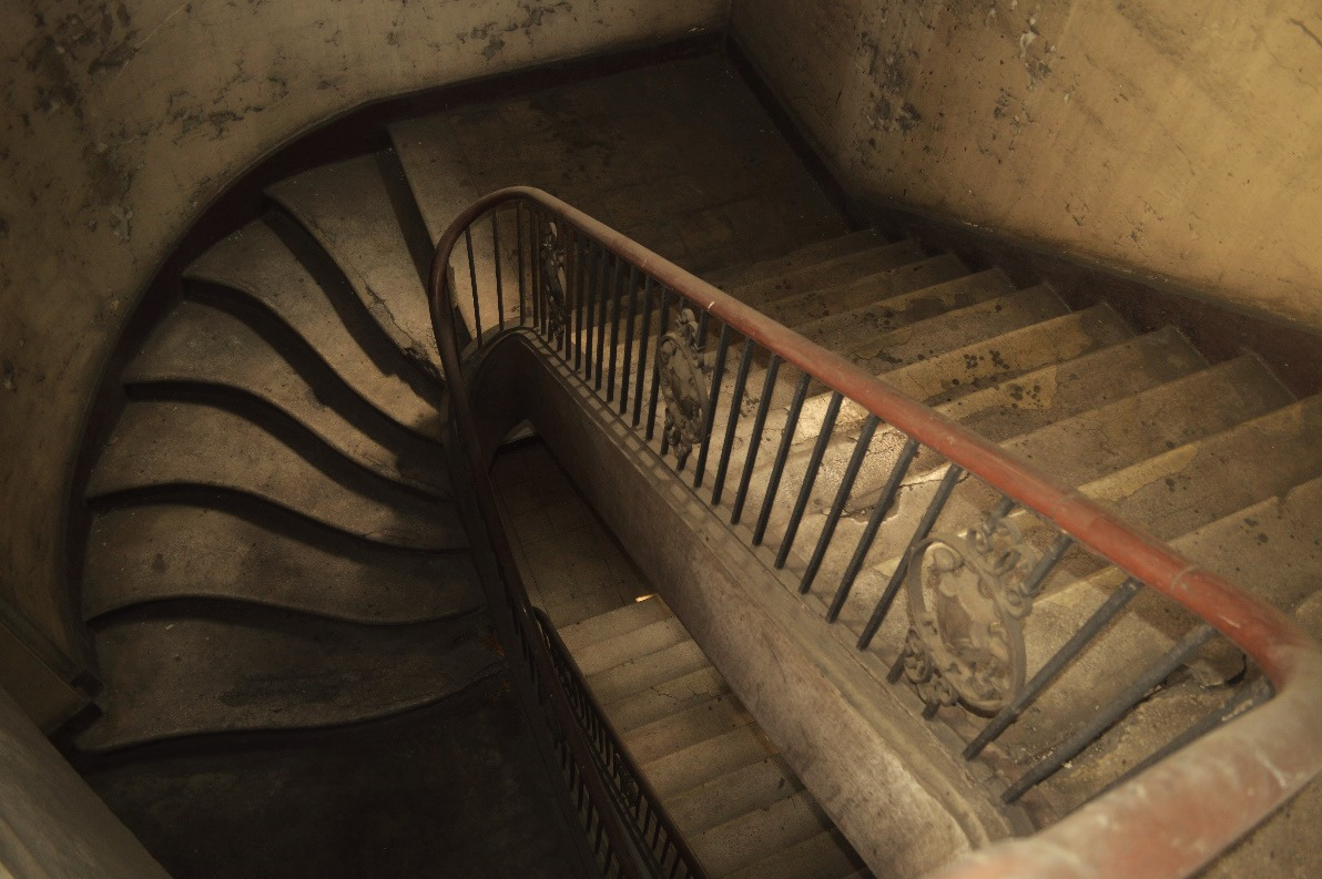 winding staircase old building