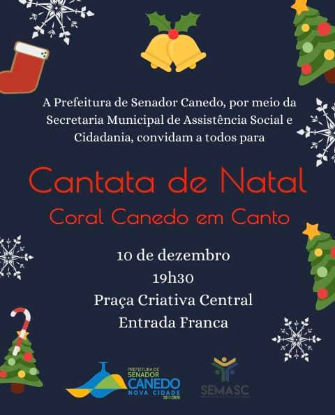 Coral Canedo em Canto apresenta Cantata de Natal na Praça Criativa