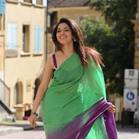 Tamanna in light green saree