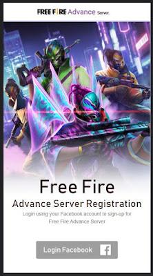 cara registrasi ff advance server 2021