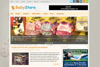 Baby Store Blogger Template