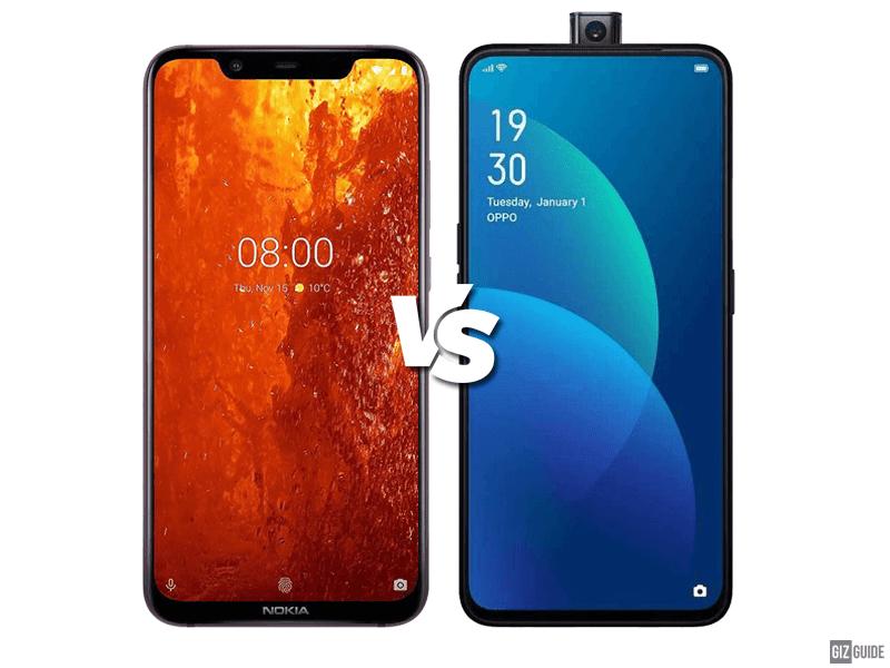 Nokia 8.1 vs OPPO F11 Pro Specs Comparison