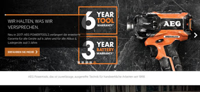 Motivbild sechs Jahre Garantie AEG Powertools