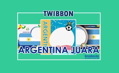 twibbon argentina juara copa