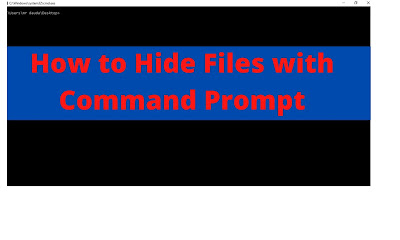 how to hide files with cmd