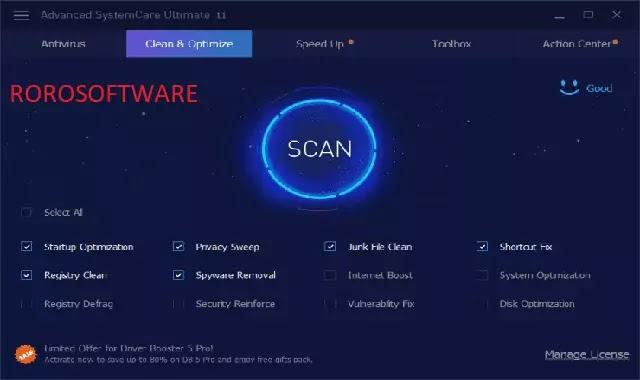 تنزيل برنامج IOBIT Advanced SystemCare لتنظيف وتسريع جهاز الكمبيوتر مفعل مدي الحياة