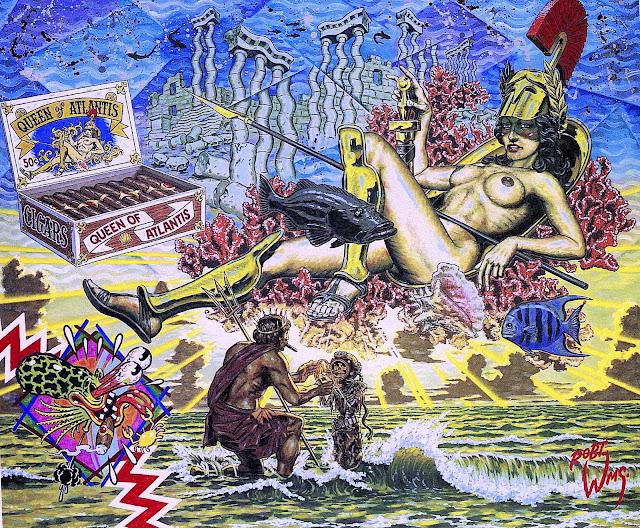 a Robert Williams painting, Queen of Atlantis