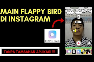 Begini Cara Main Flying Face di Instagram