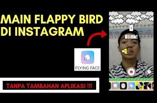 Begini Cara Main Flying Face di Instagram