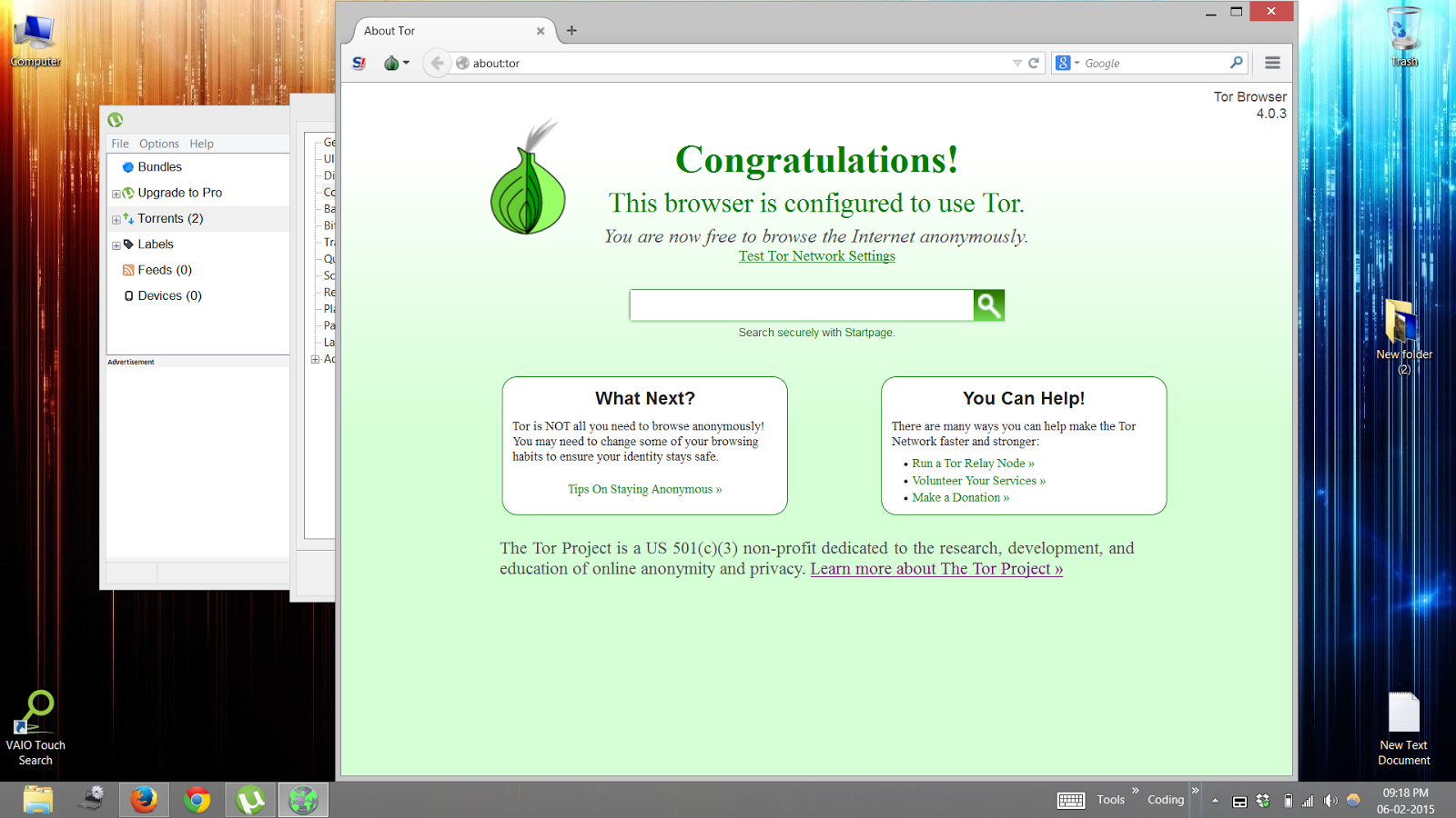 Download Torrents anonymously using Tor Browser and uTorrent