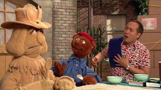 Alan, Telly, Baby Bear, Sesame Street Episode 4325 Porridge Art season 43