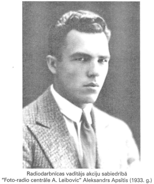 Александр Апситис. Фото 1933 года.
