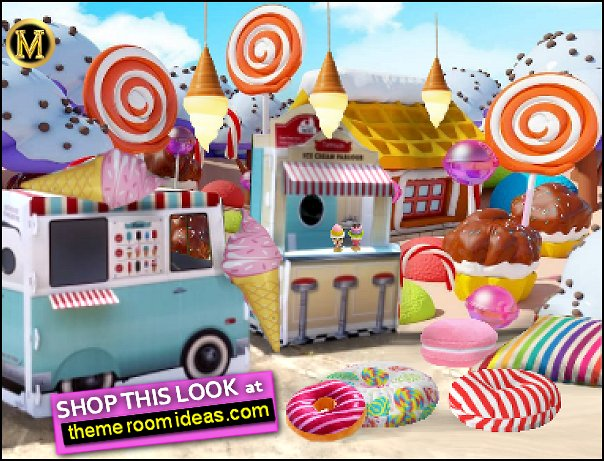 candy land bedroom Ice Cream Theme decorating candy bedroom decor
