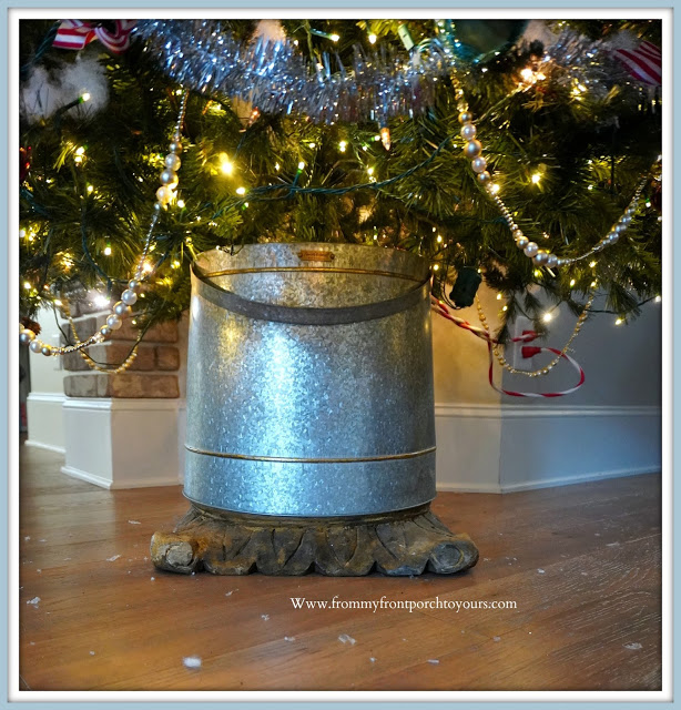 DIY -Christmas -Tree -Stand-Hearth & Hand-Galvanized-Bin-From My Front Porch To Yours