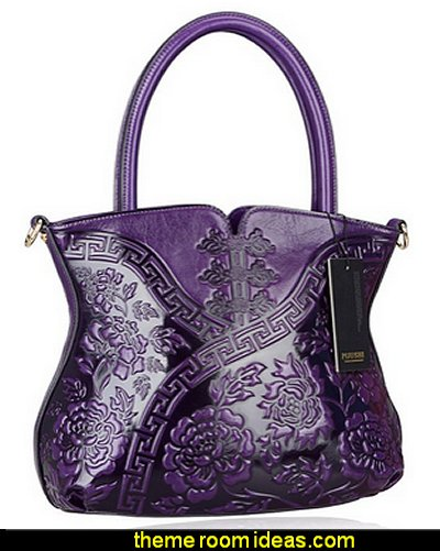 Flower Style Lady Tote Handle Handbag Womens Shoulder Bag