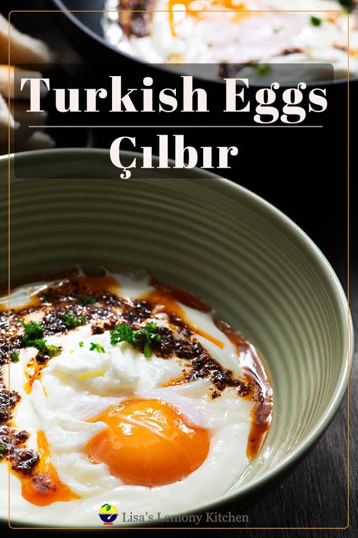 Turkish Eggs or Çılbır is an absolute delicious breakfast. Turkish eggs served with garlic yoghurt sauce, Aleppo chilli butter and crusty bread.