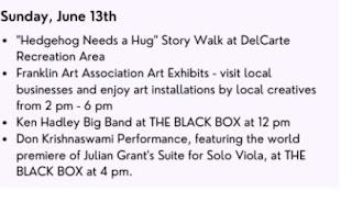 Escape to the Arts! Sunday, June 13