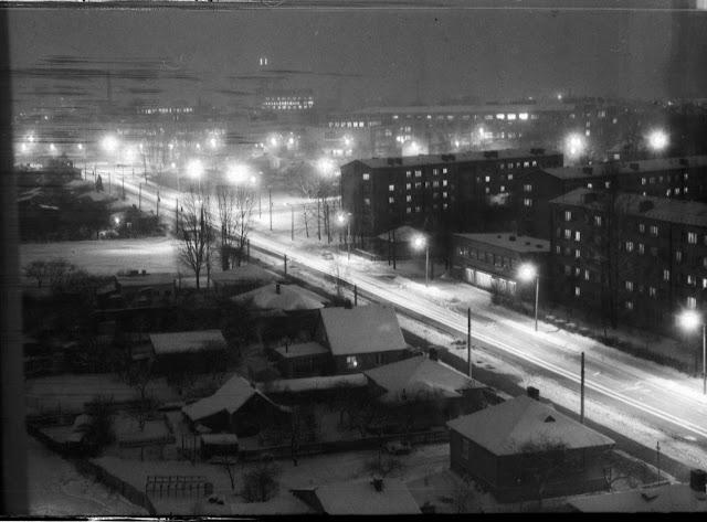 1980-е годы. Рига. Пурвциемс. Вид на улицу Дзелзавас (фото из архива: Georgs)