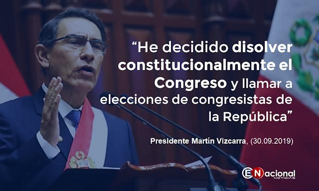 Martín Vizcarra. cierra el congreso