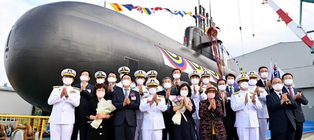 HHI lanza el tercer submarino KSS III para la Armada de la República de Corea