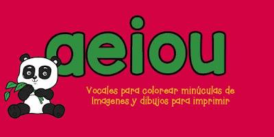 Colorear Vocales minúsculas para colorear de imágenes y dibujos para imprimir