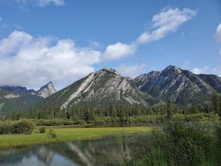 Bow River - Mountain Backdrop