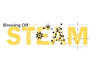 Blowing Off STEAM Logo.