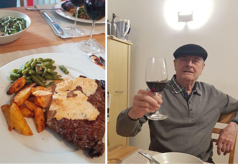Weinprobe - Home cooking