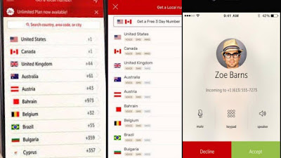 افضل تطبيق للحصوال على رقم امريكي أو كندي لتفعيل الواتساب وجميع برامج التواصل الاجتماعي 2020