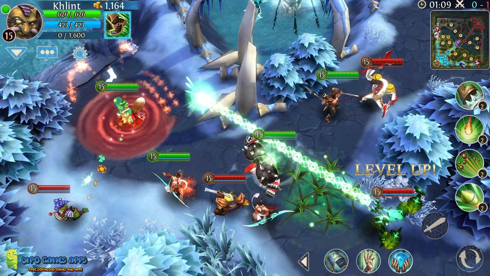 Heroes of Order & Chaos v3 4 1 Mod Apk + Obb File (Unlimited