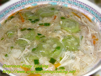 Patula Misua Soup with Shredded Chicken