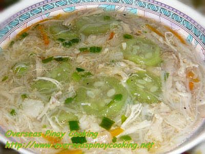 Patola Misua Soup with Shredded Chicken