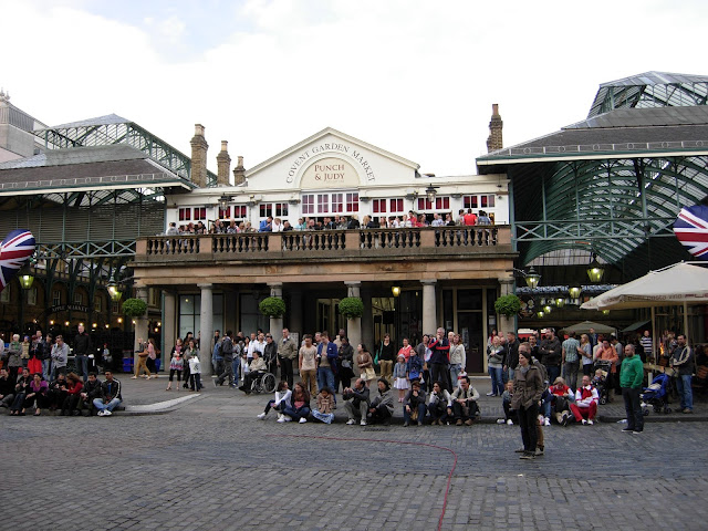 street artists em Covent Garden, Londres