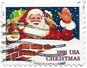 Selo Papai Noel na chaminé